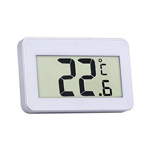 Homyl Digital Kühlschrank Thermometer Wasserdicht Gefrierschrank thermometer mit Haken LCD-Display, für Wohnhaus, Restaurants, Cafes, Eisschrank, Kühl, usw. - Weiß, 6.7x2.5x4.3cm - Restaurant-display