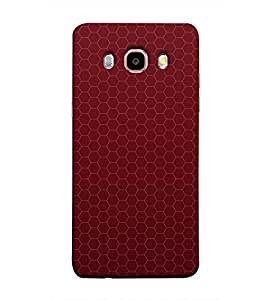 Fuson Red designer pattern Designer Back Case Cover forSamsung Galaxy On8 Sm-J710Fn/Df-3DQ-1268