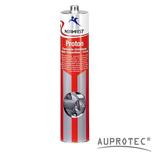 Auprotec® Normfest Karosseriedichtmasse Proton 310ml 1K Kleber überlackierbar schwarz, 1 Kartusche
