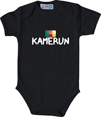 Unbekannt Cooler WM Länder Baby Body mit Flagge/KAMERUN/Farbe: Schwarz/Größe: 50-56 (1-2 Monate)