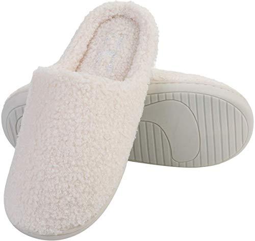L-RUN de algodón de Mujer de Espuma de Memoria Zapatillas Zapatillas de  Tela Antideslizante 9d89d87264a2