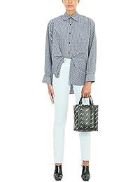 Balenciaga Femme 480014TSB064244 Bleu Claire Coton Jeans