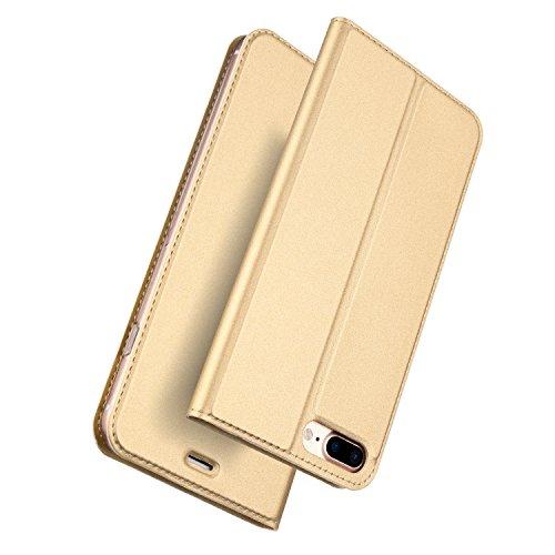 Fall iPhone 7Plus Fall, DUX Ducis Haut Pro Series Ultra Slim Layered Dandy, Ständer, Magnetverschluss, TPU Bumper, Full Body Schutz für iPhone 8Plus Fall iPhone 7Plus Fall (Iphone Stand-up-fall)