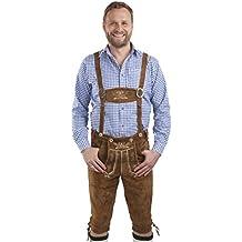 Aleman Lederhosen marrón - Trajes bávaros masculinos con pantalón - Pantalón Oktoberfest
