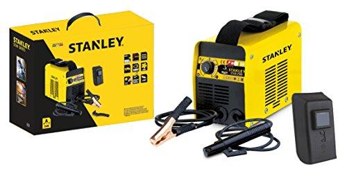Stanley 61101 MMA Inverter Schweißgerät STAR 2500 / Inverter-Schweißgerät / Elektro Schweissgerät 230V, 80 Amp / inkl. Elektrodenhalter, Masseklemme, Hammerbürste, Schweißmaske / Antistick, Hotstart und Arc Force Funktion