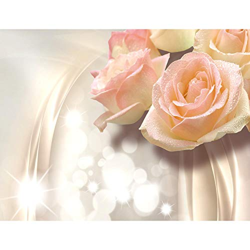 Fototapete Blumen 3D Rose Beige 396 x 280 cm Vlies Wand Tapete Wohnzimmer Schlafzimmer Büro Flur Dekoration Wandbilder XXL Moderne Wanddeko Flower 100{7e1015ea2b8e456370b61245965b6a70d9da2b22d726f1e071906a2b8d50381a} MADE IN GERMANY - Runa Tapeten 9129012c