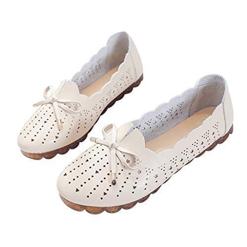 ❤Eaylis Damen Sandalen Hollow LäSsige Erbsenschuhe Einfarbig Sommer Strand Schuhe Hausschuhe Stilvoll und elegant
