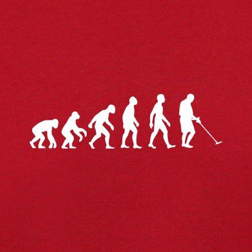 Evolution of Man - Metalldetektor - Herren T-Shirt - 13 Farben Rot