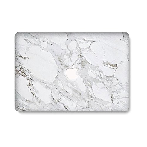 AQYLQ MacBook Schutzhülle/Hard Case Cover Laptop Hülle [Für MacBook Air 13 Zoll: A1369/A1466] - Ultradünne Plastik Matt Gummierte Hartschale Schutzhülle, DL 45-Weißer Marmor