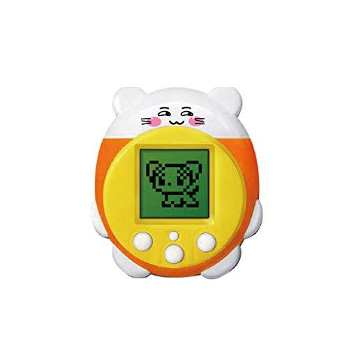 Kofun Pet Spielzeug, Mini elektronische Haustiere Spielzeug 90S 9 Haustiere in einem virtuellen Cyber   Pet Spielzeug lustige Kinder Erwachsene gelb