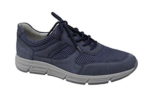 Waldläufer Gli uomini della scarpa da tennis 323001-287-206 i jeans Haslo blau