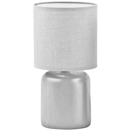 Promobo - Lampe Design Cylindre Pied Abat Jour Coloris Gris