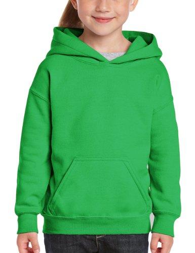 Gildan Jungen Sweatshirt Youth 50/50 Cotton/Poly Hooded Sweat, Grün (Irish Green), 128 (Herstellergröße: S) 50 Youth Hoodie