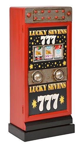 ts-ideen Retrolook CD DVD Schrank Regal Aufbewahrung Design Spielautomat in rot 68 x 30 cm (Dvd-schrank Mit Türen)