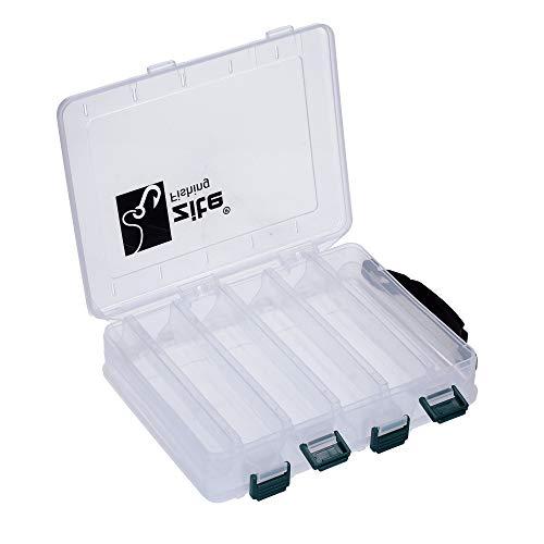 Zite Fishing Köderbox Angeln Doppelseitig mit Tragegriff 20x15,5x4,5cm - Kunstköder-Box Hardbaits Wobbler Blinker