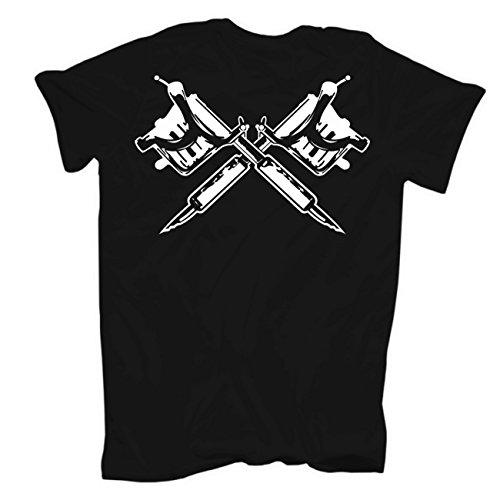 Männer und Herren T-Shirt Schmerz & Souvenir (mit Rückendruck) Körperbetont schwarz