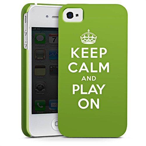Apple iPhone X Silikon Hülle Case Schutzhülle Keep Calm Games Konsole Premium Case glänzend