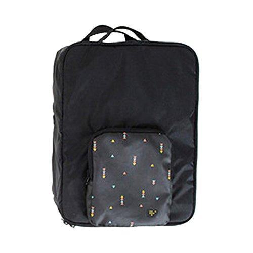 Dexinx Tragbar Kleidertaschen Aufbewahrungstasche Zusammenklappbar Wasserdicht Verpackungswürfel Reisetasche Schwarz