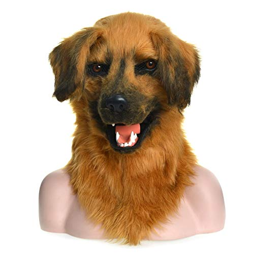 Viele Kostüm Kopf Maske Tierische bewegliche Mundmaske Tierische Maske Gelber Hund Tierische Karnevalsgesichtsmasken for Party (Color : - Einfach Tierisch Kostüm