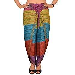 Skirts & Scarves Womens 100 % Cotton Harem Bottom (Pa-1744_Multi 127_Free Size)