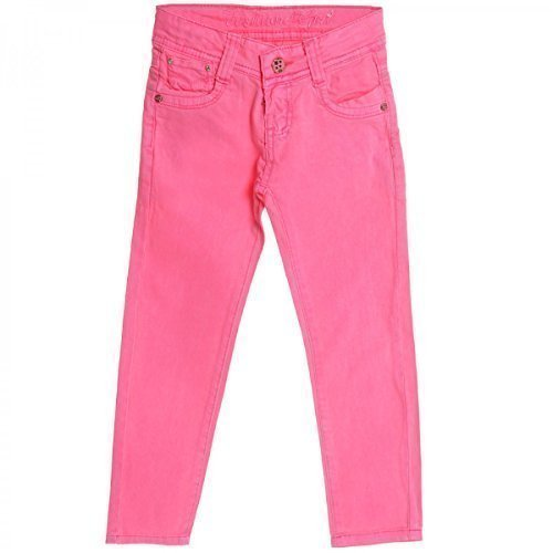 Mädchen Kinder Jeans Hose Röhre Straight Fit Skinny Sommer Stretch Bootcut 20355, Farbe:Pink;Größe:116 (Ziehen Stretch-bootcut)