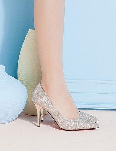 ShangYi Damenschuhe - High Heels - Hochzeit / Büro / Kleid / Lässig / Party & Festivität - Kunststoff - Stöckelabsatz - Absätze -Schwarz / almond
