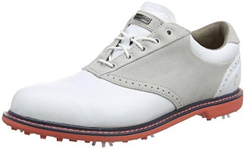 ADIVI|#Adidas Herren Leucadia Tour Golfschuhe, Weiß (White/Pebble/Sea Coral), 44 2/3 EU