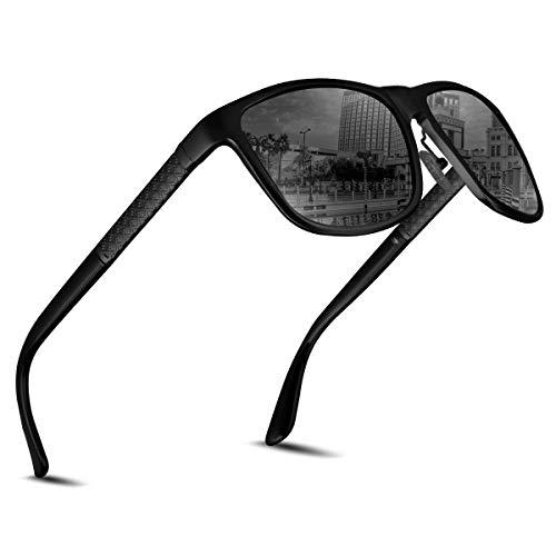 CHEREEKI Sonnenbrille Herren Damen Polarisierte für Männer Jahrgang Retro Sonnenbrille Herren Unisex UV400 ...
