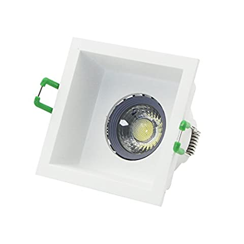 Recessed LED Lighting Trim Kit LED Ceiling Downlight Including 75mm Cut Out Recessed Housing ,110V GU5.3 MR16 6W LED Bulb Warm White,GU5.3 (Mr16 Trim)