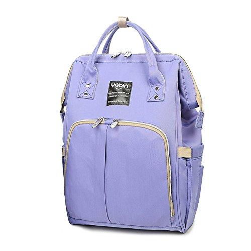 Mama-Tasche, Umhängetasche, Multifunktions-Großraum-Muttertasche, Mutter-Baby-Tasche, Licht-Out-Paket, Mode-Rucksack ( Farbe : Blue flowers ) Lila
