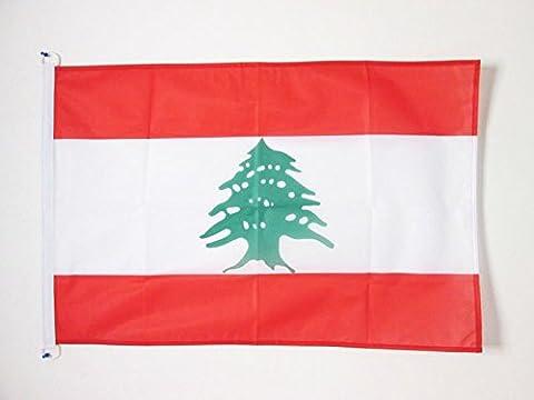 DRAPEAU LIBAN 90x60cm - DRAPEAU LIBANAIS 60 x 90 cm Spécial Extérieur - DRAPEAUX - AZ FLAG