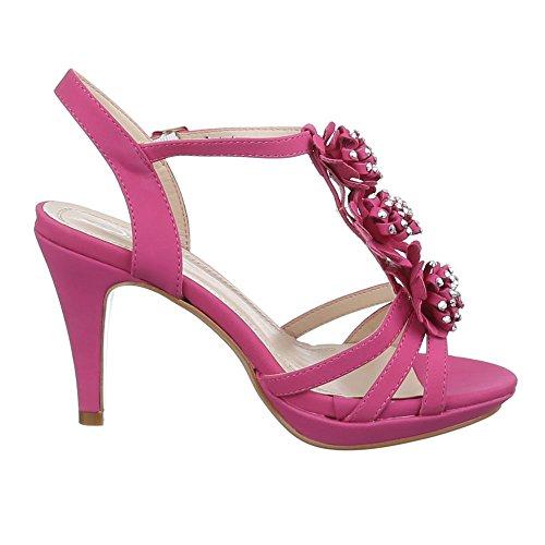 Ital-Design , Sandales femme Rose