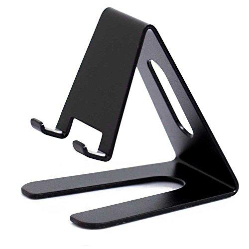 Tablets Ständer & Handy Tischhalterung Halter Table Holder aus Aluminium für Smartphone &Tablet PC Wie Apple iPhone 8, X, Samsung S8, S9, Huawei u.v.m in Schwarz