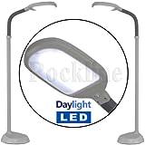 Floor Standing LED Daylight Reading Hobby Work Craft SAD Standard Lamp Light New (Grey)