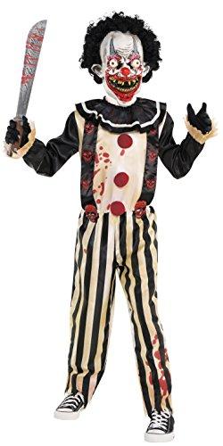 Gruselig Clown Kostüm - Slasher Clown-Kostüm für Kinder, gruselig, mit Maske und Jumpsuit