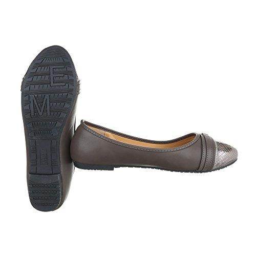 Ital-Design - Scarpe chiuse Donna grigio argento