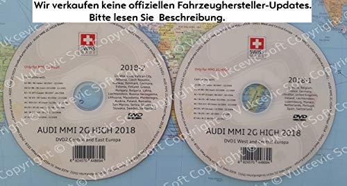 A U D I MMI 2G High Navigation - Europa 2018 DVD1+DVD2