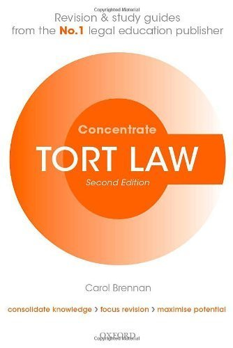 Tort Law Concentrate: Law Revision and Study Guide 2nd edition by Brennan, Carol (2013) Paperback