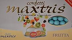 Idea Regalo - MAXTRIS | Confetti Italiani di Mandorla | MIX FRUTTA AZZURRO | 1 Kg.