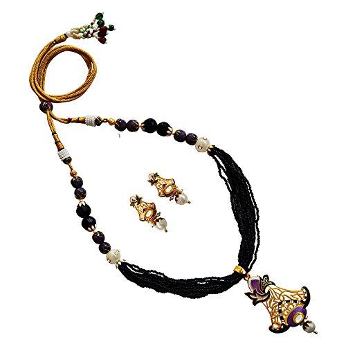 MK Jewellers meenakari EID festival chid mala necklace set-68