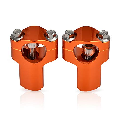 H2RACING 28MM Orange Motorrad Lenkerklemme Lenkerhalter Lenkererhöhung Montageadapter für K-T-M 690 Enduro/R/SMC,300/500 EXC/350 EXC-F,1190 Adventure/R,500 XC-W 2012-2016,500 EXC Six Days 2016