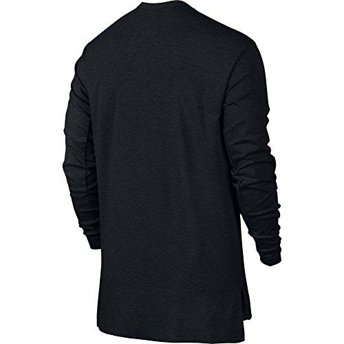 NIKE Herren Kapuzenpullover Squad Fleece negro - (black heather/black)