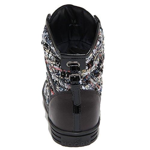 4627N sneaker HOGAN REBEL scarpe donna shoes woman nero Nero