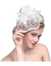 dressfan Elegante cappello Fascinator per donna. Fascia per capelli in lino  irregolare. Accessori per banchetti da… 965c62c74f8b