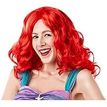 Rubie's 38123 Official Disney Princess Little Mermaid Ariel Adult Wig, Womens, One Size