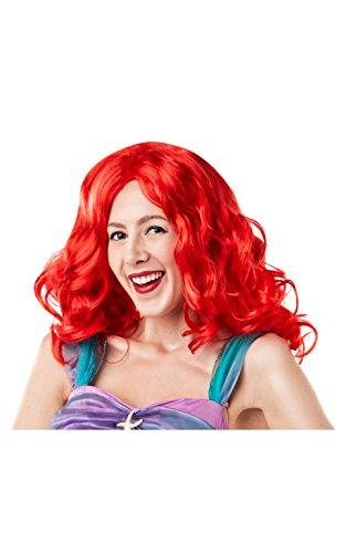 Rubie's 38123NS Offizielle Disney Prinzessin Meerjungfrau Ariel Perücke, Damen, Einheitsgröße