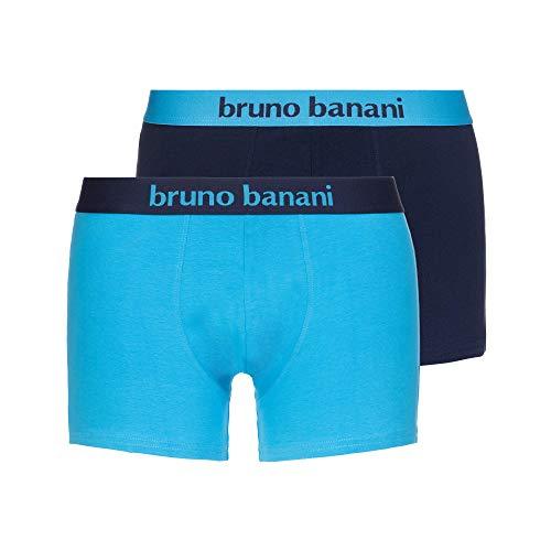 bruno banani Herren Short 2er Pack Flowing Boxershorts, Blau (Azur//Navy 2731), Medium (Herstellergröße: M)