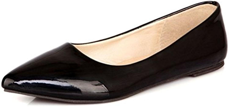 Zanpa Mujer Basic Trabajo Zapatos Plano Bombas Extra Sizes 0-11