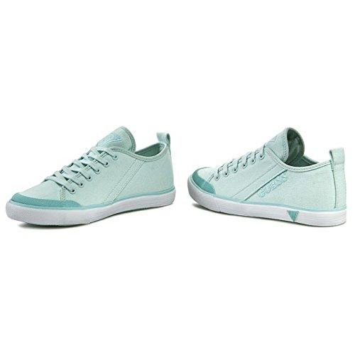 Chaussures Sneakers Guess Modèle Jolie FL1JIEFAB12 Colonel Ou Blanc Vert D'eau. - Verde Acqua
