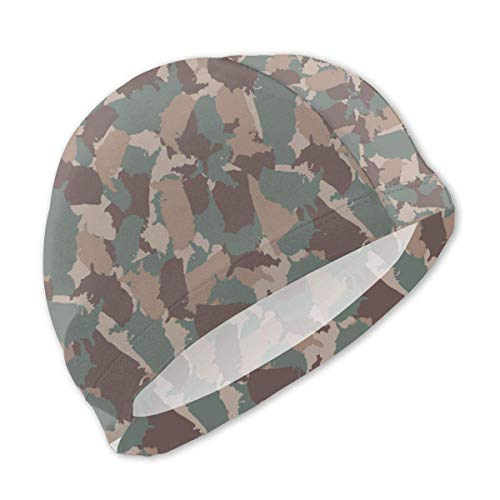 Schwimmhaube, Original USA Shape Camo Colorful Swim Caps for Kids Boys and Girls Baby Bathing Caps for Long and Short Hair